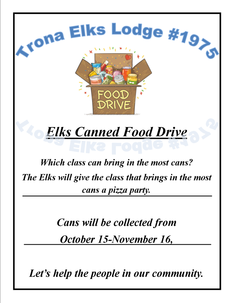 Elk's Canned Food Drive