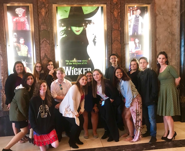 Drama class at the theater to watch Wicked