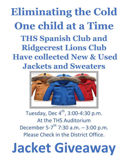 Flyer for Jacket Giveaway