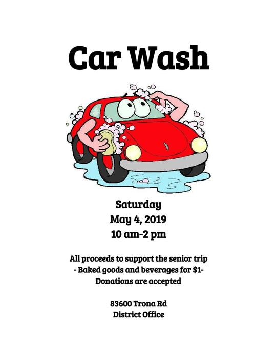 Flyer for Senior Car Wash