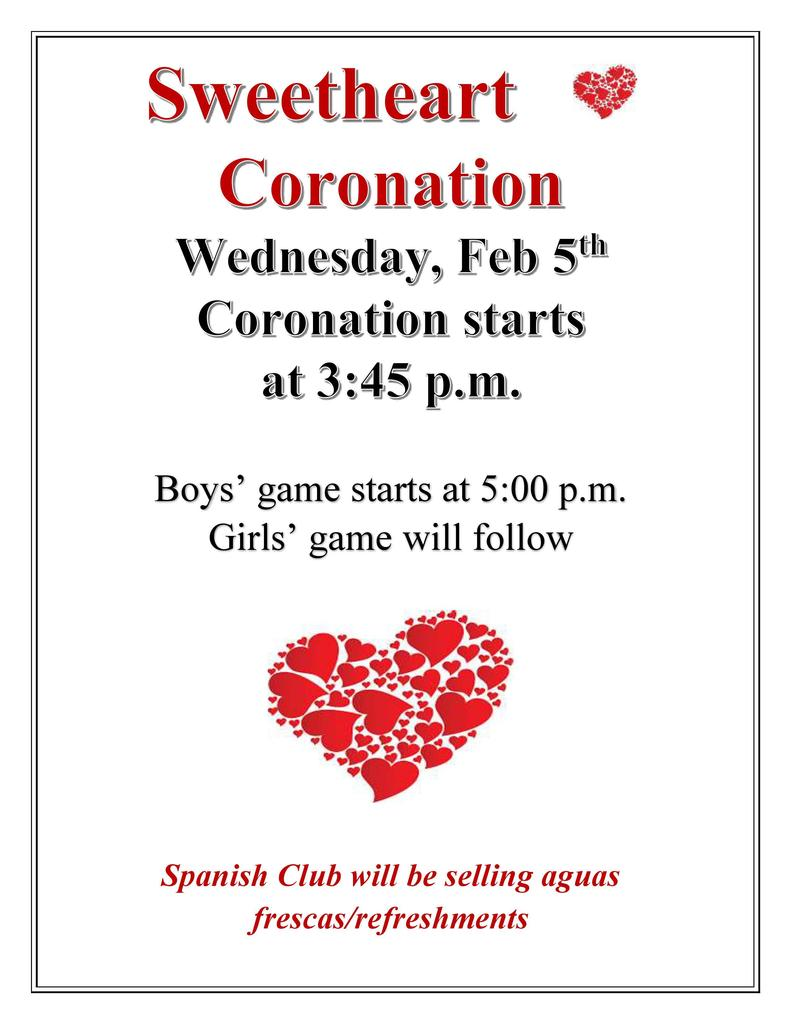 Sweetheart Coronation Flyer