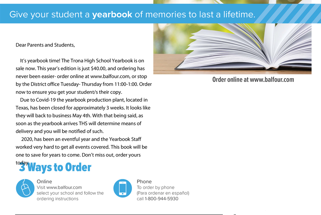 YearBook Order Flyer